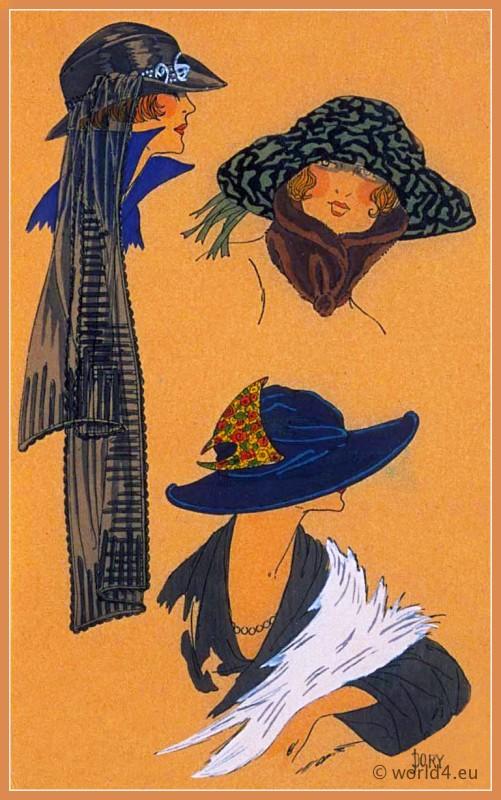 GRACES DISCRÈTES, Chapeaux, Très Parisien, Art deco, Art-deco, headdress, hat, fashion