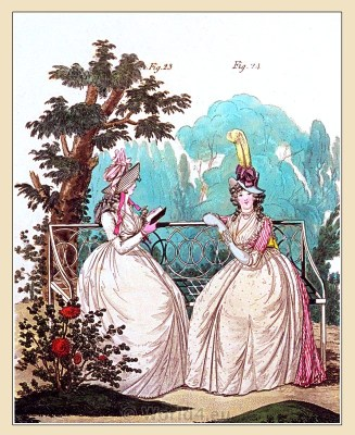 Beaver hat. Gallery of Fashion. Georgian fashion. Neoclassical costumes. Regency era