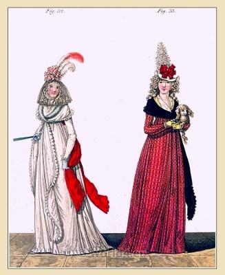 Regency round gown . Georgian fashion. Jane Austen costumes.