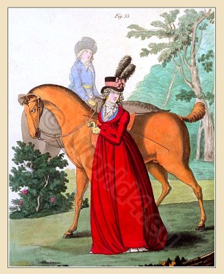 Neoclassical fashion. Jane Austen costumes. Empire fashion. Eighteenth century clothing.
