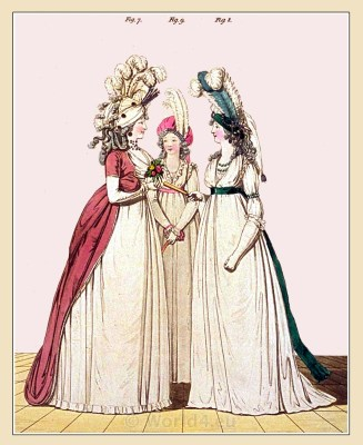 a la Turque. Gallery of Fashion. Georgian fashion. Neoclassical costumes. Neoclassical costumes.
