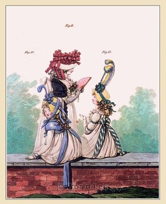 Kensington Gardens. Gallery of Fashion. Georgian fashion. Neoclassical costumes. Neoclassical costumes.
