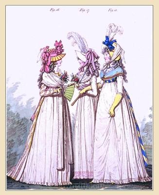 Lawn petticoat. Georgian fashion. Neoclassical costumes. Neoclassical costumes.