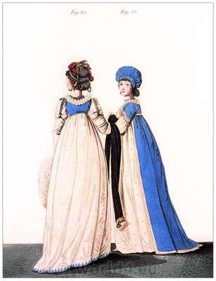 Neoclassical fashion. Jane Austen costume. Empire fashion. Eighteenth century clothing.