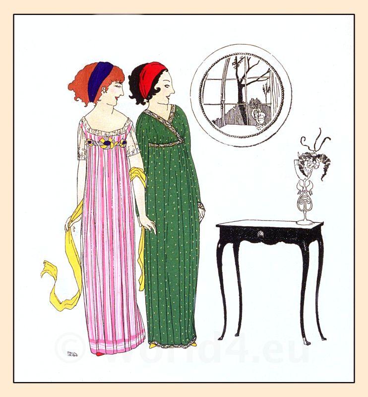 Paul Poiret, costumes, Art Nouveau, Art deco, Robes