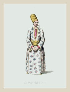 Page Turkish Sultan. Ottoman empire historical clothing