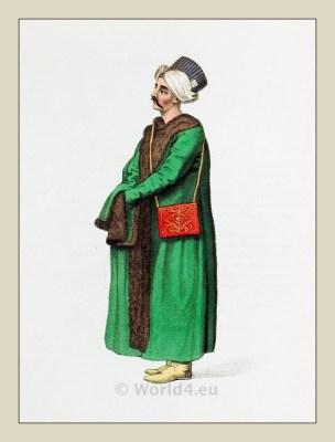 Secretary Ottoman Sultans. Ottoman Empire official costumes.
