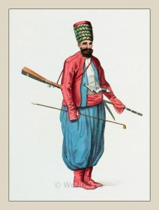 Spahi. Turkish cavalry. Ottoman empire historical clothing