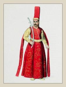 Selictár Agá. Sword Bearer Ottoman Sultans. Ottoman Empire officials costumes