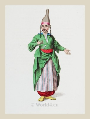 Chief confectioner. Ottoman Empire. Turkish Sultan. Historical Turkish costumes.