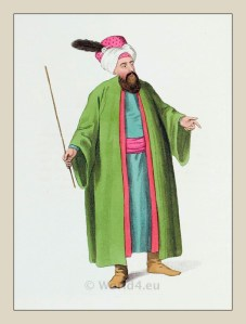 Chief Usher. Turkish Sultan. Ottoman empire historical clothing
