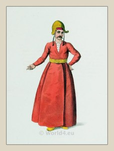 İçoğlan. Servant costume. Turkish Sultan. Ottoman empire historical clothing