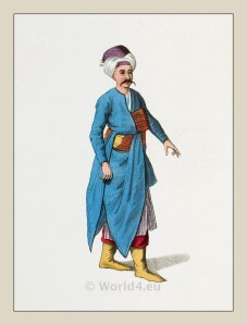 Servant costume. Ottoman house. Ottoman empire historical clothing