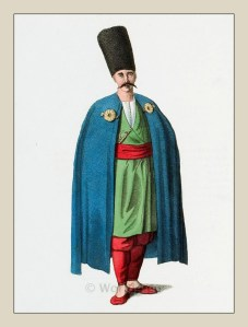 Muslim man. Bosnia costume. Ottoman empire historical clothing