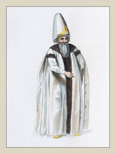 Grand Vizier. Historical Turkey costumes. Ottoman empire officials dress.