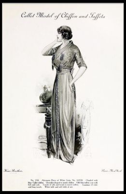 France Fin de siècle fashion. French haute couture gown. Belle Epoque costume by Couturier Callot Soeurs.