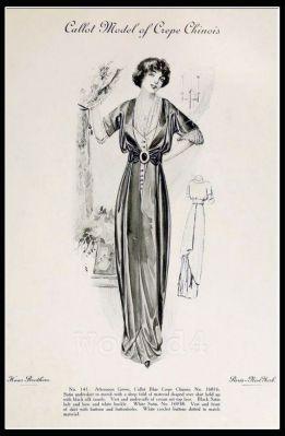France Fin de siècle fashion. French haute couture gown. Belle Epoque costume by Couturier Callot Soeurs.