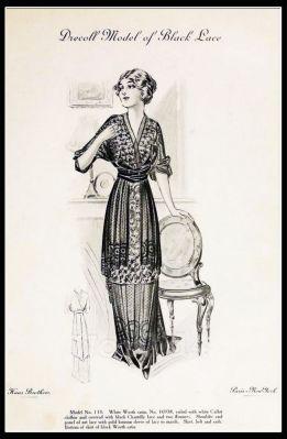 France Fin de siècle fashion. French haute couture gown. Belle Epoque costume by Couturier Premet.