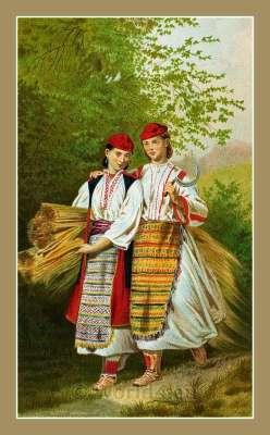 Okolica Dubrovnik  Dalmatia. Croatian national costumes. Hrvatskih narodnih nošnji.