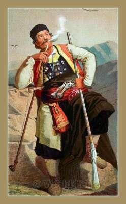 Crnogorac. Montenegro national costumes. Narodne nošnje Crna Gora