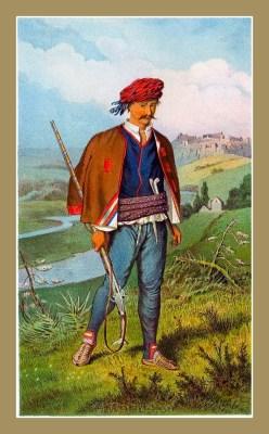 Traditional Serbian National Costumes. Folk dresses from Knin Croatia North Dalmatia. MUŠKA NOŠNJA IZ KNINA