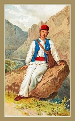 Traditional Serbian National Costumes. Folk dresses from Senj Croatia. MUŠKA NOŠNJA IZ SENJSKE OKOLICE