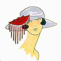 Art deco era headdresses. Le Chapeaux du Très Parisien. Cloche hats, Flapper, Gatsby fashion.