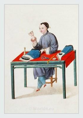 Stockings, Historical Chinese clothing. Qing dynasty clothing. China costume