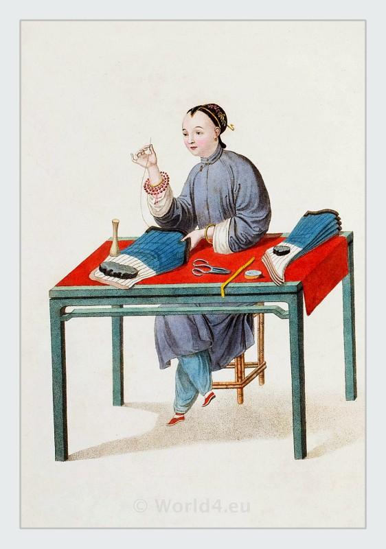 China, costumes, Qing, dynasty, clothing