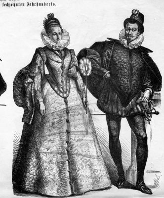 Spanish Baroque and Renaissance costumes. The Spanish fashion and court dress. Costume Designer ideas and research