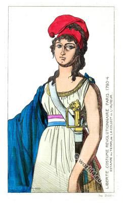 French Revolution costumes. Costume d'époque Revolutionnaire Jacobin hat
