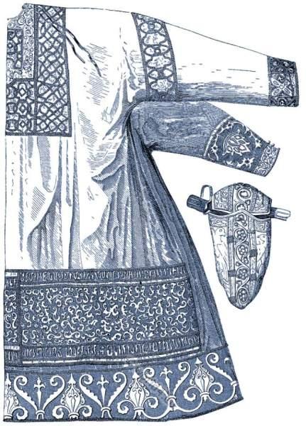 Dalmatica, Sandals, Middle Ages, Medieval, clothing, Charlemagne, Carolingian, Karl der Große,