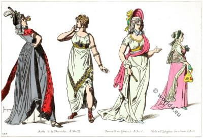 French Revolution costumes. Directory fashion. Regency costumes