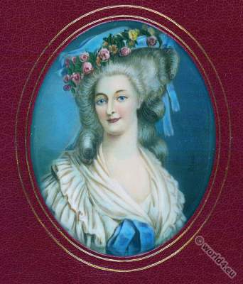 Princesse de Lamballe. Princess Maria Teresa of Savoy-Carignan. French nobility. 18th century, rococo fashion