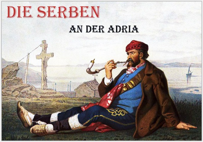 Traditional Serbian National Costumes. Folk Costume from Karloba Croatia.