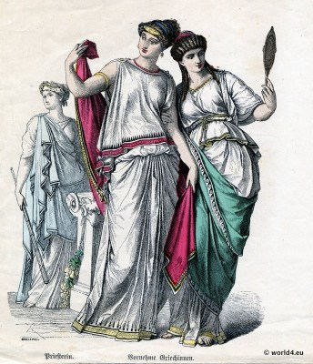 Olympias.Alexander the Great. Greek Chiton. Ancient Greek costumes.Kolpos.