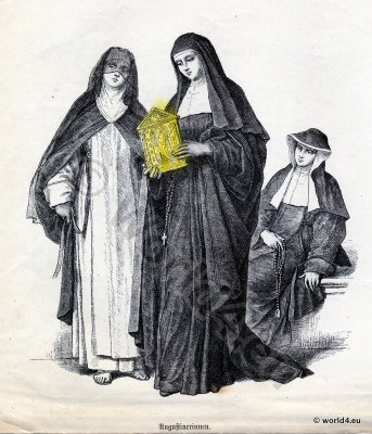 Augustinian, Nuns, costumes, Ecclesiastical, Dress, Monastic, clothing,