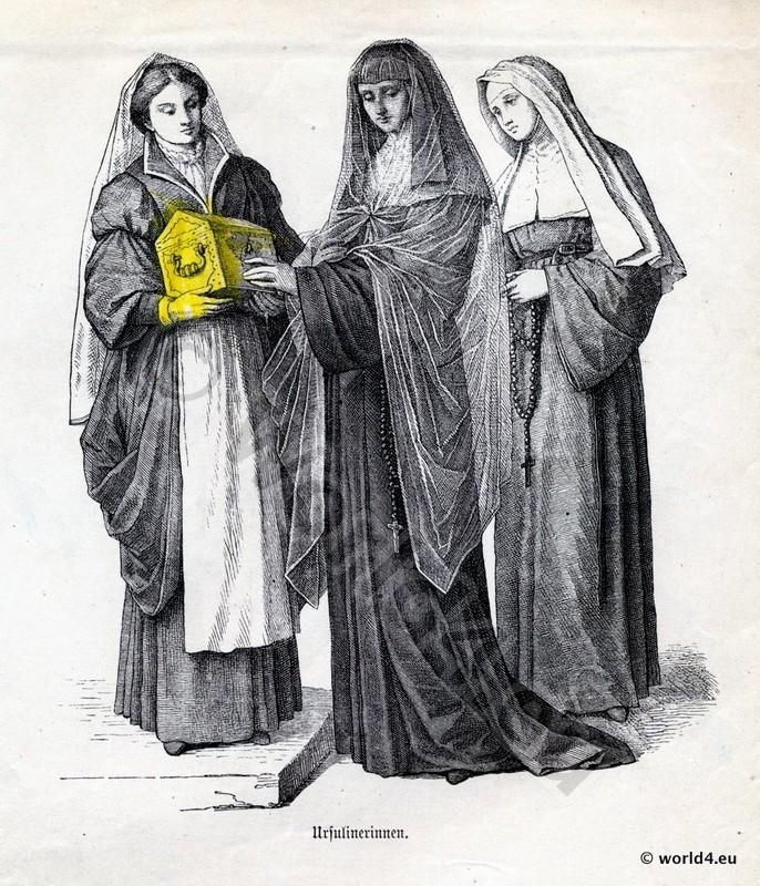 Medieval nun habit