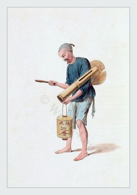 Traditional Chinese clothing. Costumes of Qing dynasty. Ancient chinese costume