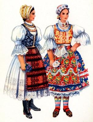 Vladimir Kirin. Serbian national costumes. Vojvodina, Bačka Banat. Traditional Hungarian folk dresses.