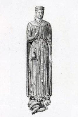 Byzantine costume. Carolingian clothing. Middle ages French Queen Ultrogothe