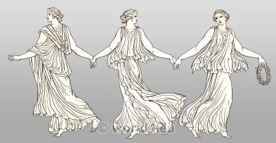 Ancient Costume History. Greek costume. Dancing girl