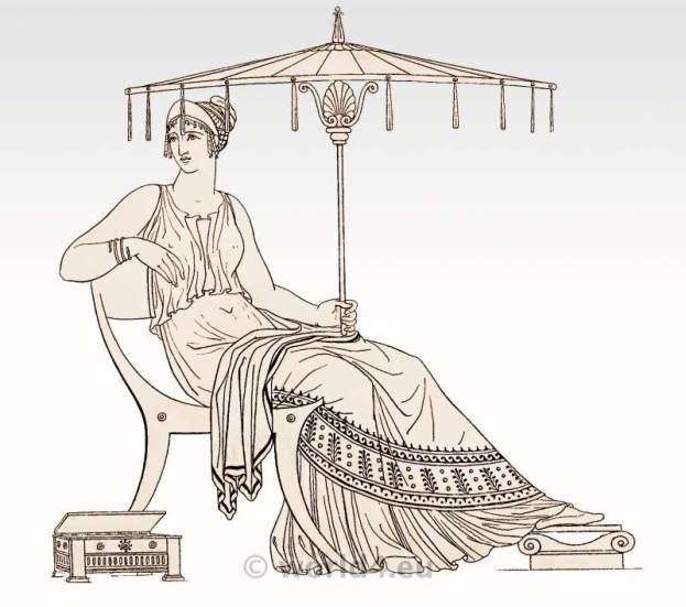 Ancient Greek woman hairstyle and fashion