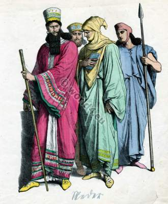 fashion history, Ancient, Medes, nobility, costumes, King, warrior, dresses,