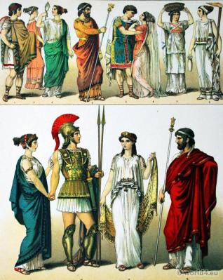 Ancient Greek clothing. The Peplos, the Chiton. Antique Bridal costumes