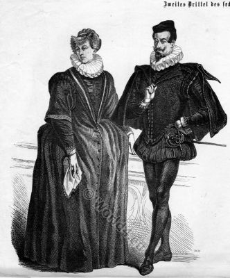 German Nobility Baroque and Renaissance costumes. The Spanish fashion and court dress. Costume Designer ideas and research
