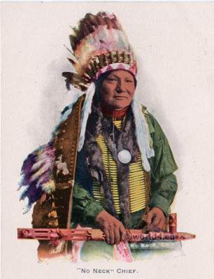 Indian chief costume. Hunkpapa Sioux dress. Eagle feather bonnet.