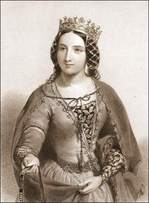 Anne of Bohemia Queen of England. Middle ages Gothic fashion.