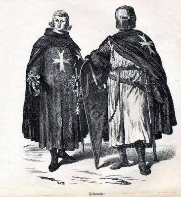 Crusades, Crusader, Knights Hospitallers. Malta. Military orders. St. John. Monastic Costumes.