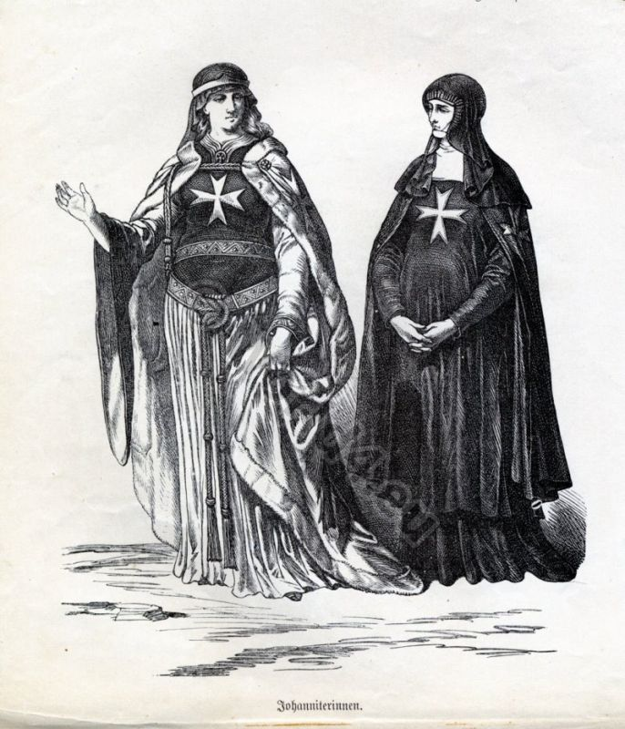 Nuns, Crusades, Knights Hospitallers, Malta, Military orders,Monastic